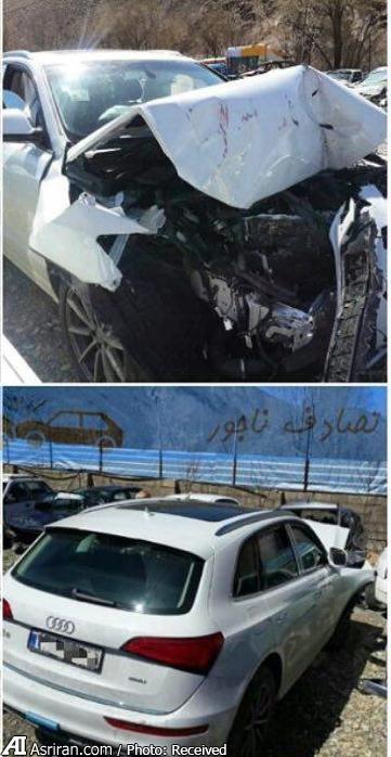 تصادف شدید خودروی لوکس آلمانی در ایران (+عکس)