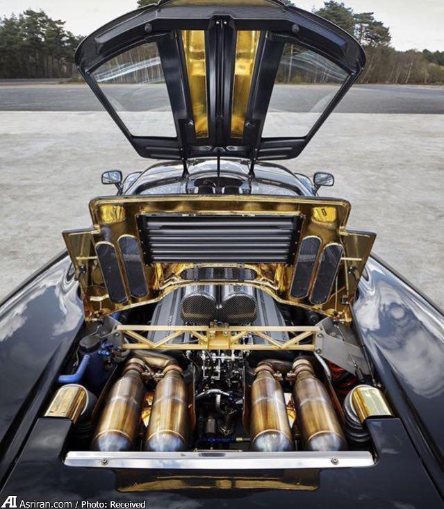 خودروی فوق لوکس با موتور طلا (عکس)