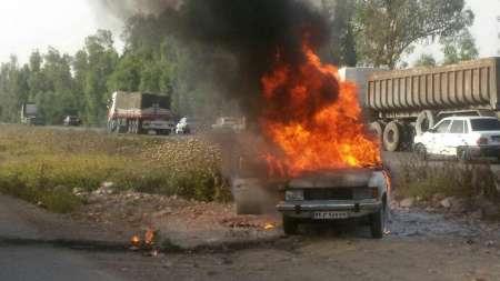 یک كشته و 3 زخمی در آتش گرفتن پیکان (+عکس)