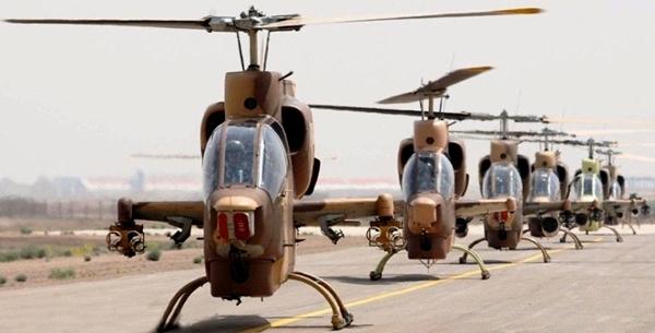 ورود بالگردهای جنگی ایران به عراق برای جنگ با داعش