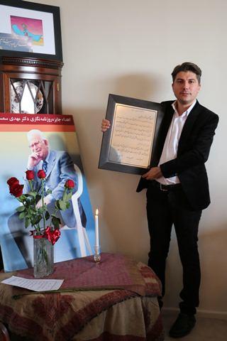 سرگه بارسقیان نهمین جایزه مطبوعاتی «امید» را دریافت کرد