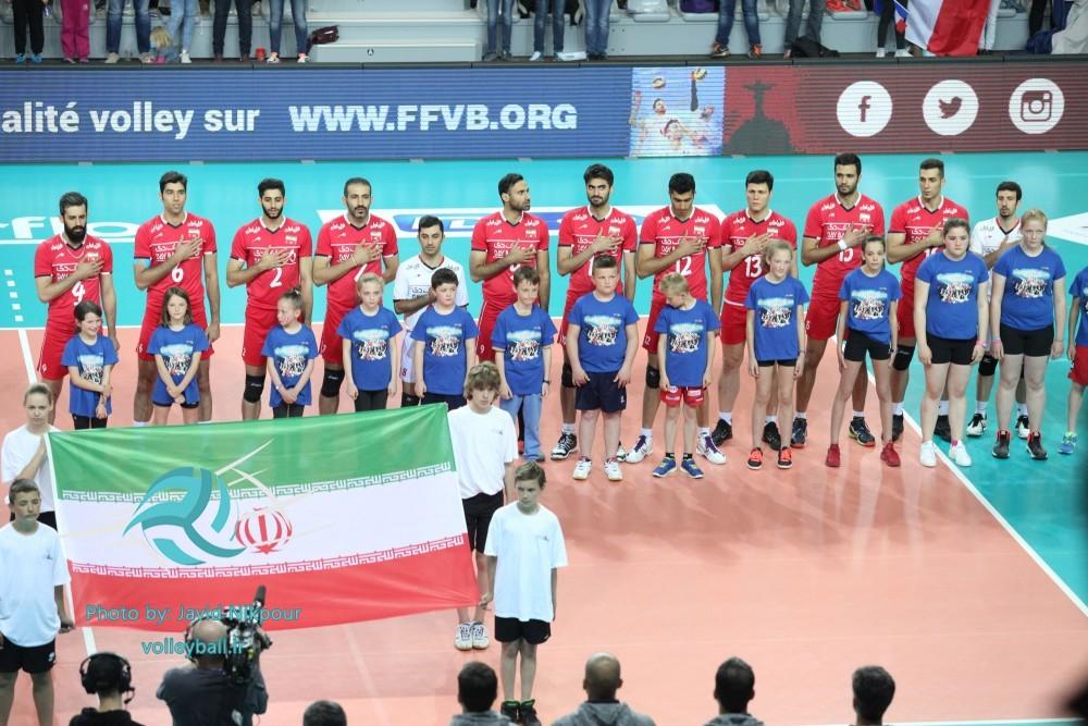 ایران 0 - 3 فرانسه /دومین شکست تیم ملی والیبال از فرانسه(+گزارش تصویری)