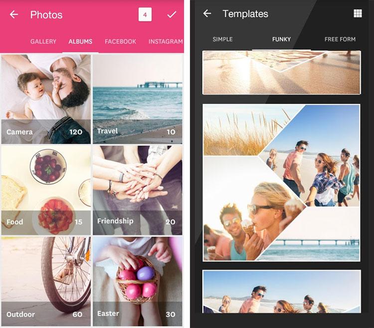 ساخت تصاویر کلاژ در موبایل با Fuzel Collage