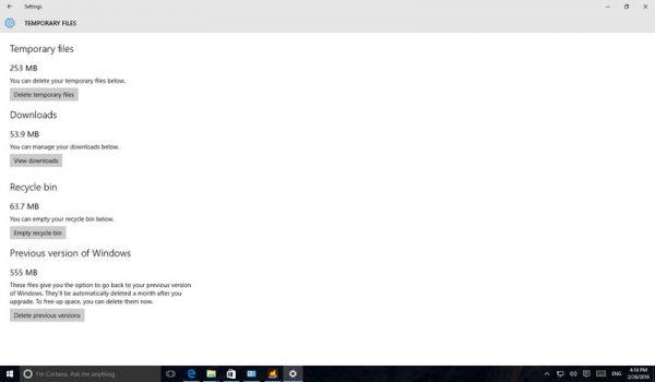 5 روش برای آزادسازی فضای بیشتر در ویندوز 10