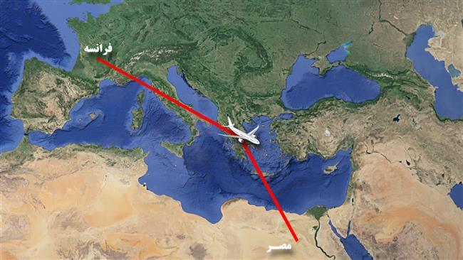 ناپدید شدن یک هواپیمای مسافربری مصری