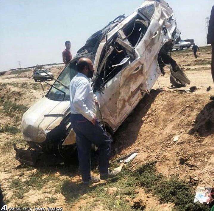تصادف بسیار شدید سانتافه در ایران (+عکس)