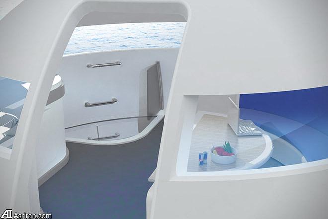 ارائه طرح مفهومی خانه شناور روی آب توسط جت کپسول