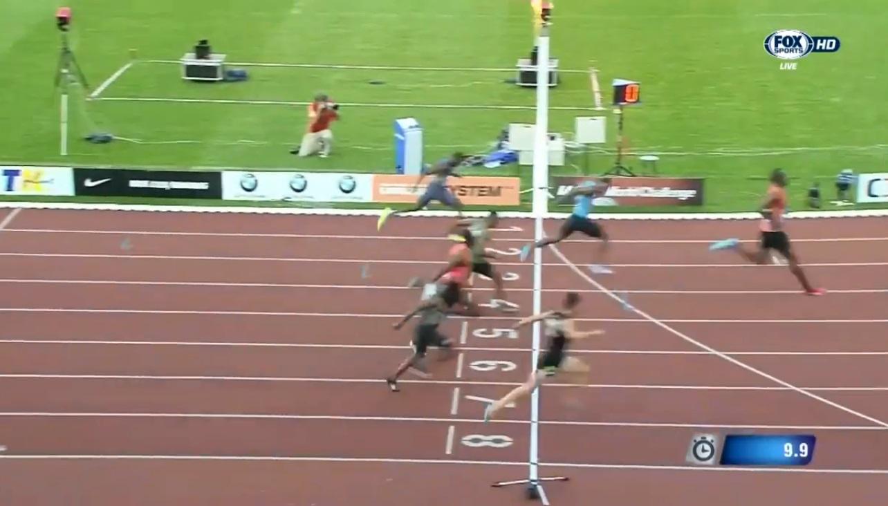 دونده المپیکی ایران پا به پای بولت دوید وسوم شد(+گزارش تصویری)
