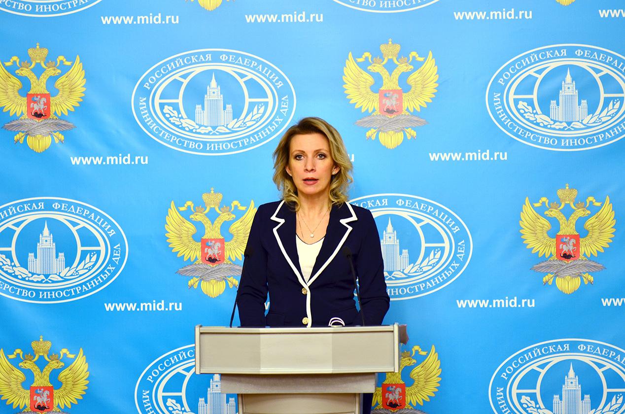 رقص سخنگوی وزارت امور خارجه روسیه (+عکس)