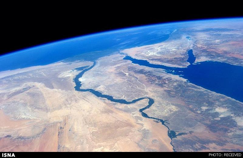 منظره خیرهکننده کانال سوئز از فضا+تصاویر
