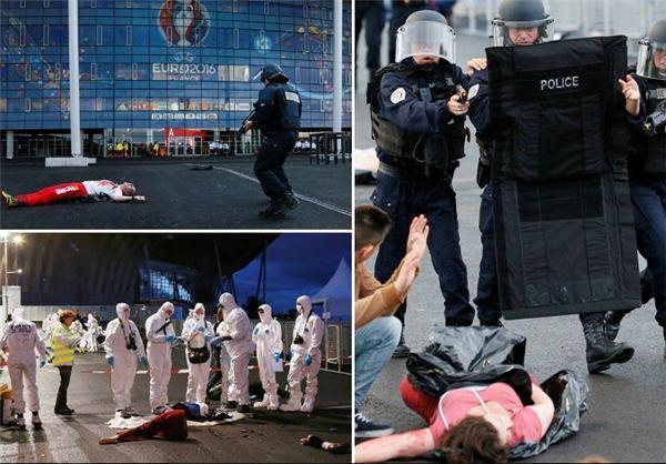 آموزش برای مقابله با حملات احتمالی داعش در یورو ۲۰۱۶ (+عکس)
