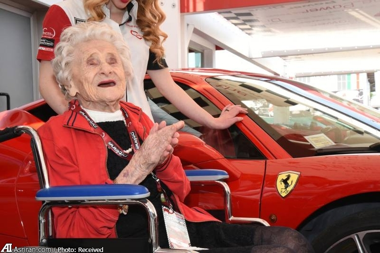 سورپرایز یک پیرزن در تولد 104 سالگی (+عکس)
