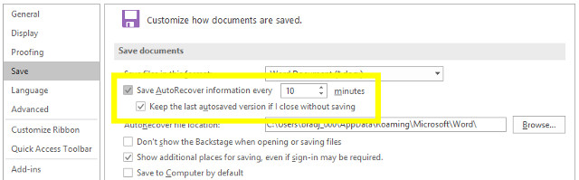 نحوه بازیابی فایلهای آفیس حذف شده