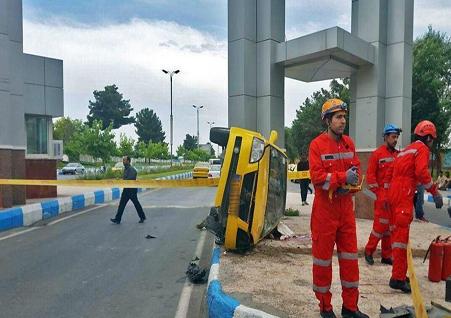 مرگ دلخراش راننده تاکسی (عکس 18+)