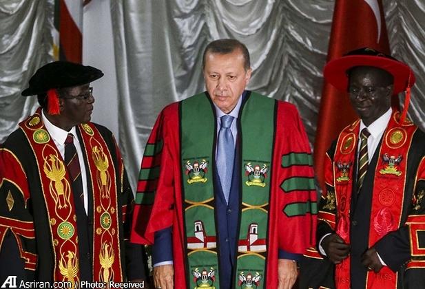 اعطای دکترای افتخاری دانشگاه اوگاندا به اردوغان (+عکس)