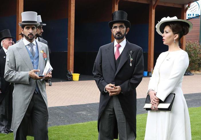 حاکم دبی و همسرش در لندن (عکس)