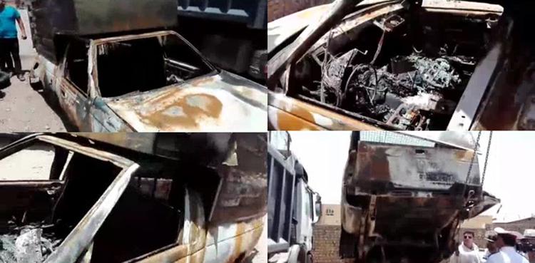 فاجعه در سانحه وانت آریسان در جاده سمنان/ 2 کودک در آتش سوختند