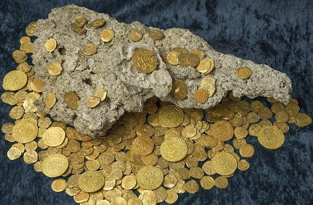 کشف گنج ۱۳ میلیون دلاری در کشتی 500 ساله