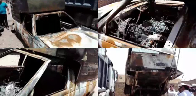 علت حریق وانت آریسان اعلام شد / پلیس تولیدکننده را مقصر حادثه شناخت (+عکس)