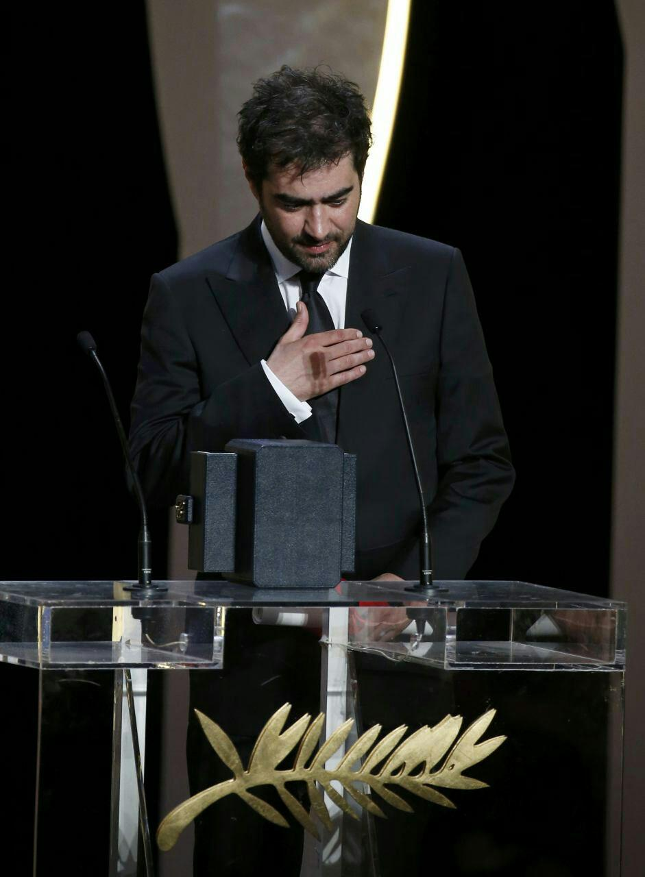 شهاب حسینی برنده نخل طلایی بهترین بازیگر مرد/ نخل طلای بهترین فیلمنامه برای اصغر فرهادی (+عکس)