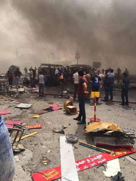 تلفات حمله تروریستی بغداد به 12 کشته و 49 زخمی رسید (+عکس)