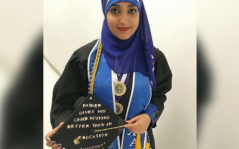 لباس فارغ التحصیلی دختر فارع التحصیل از آمریکا دختر یمنی حدیث پیامبر