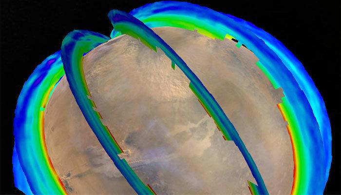 طوفان مریخی را ببینید (+عکس)