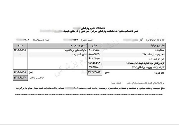 قطار پرداختیهای نجومی دولت در ایستگاه وزارت بهداشت