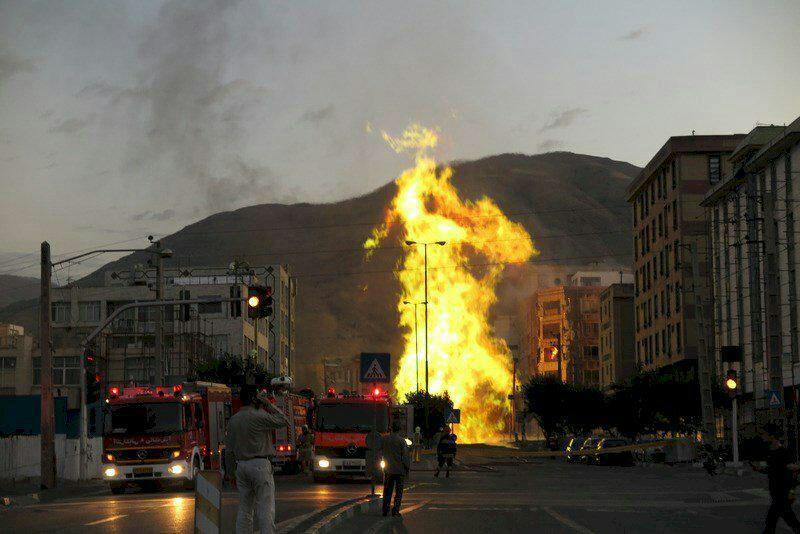 انفجار لوله گاز <a href=