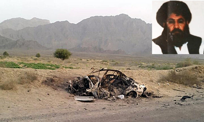 رهبر طالبان حمله هوایی