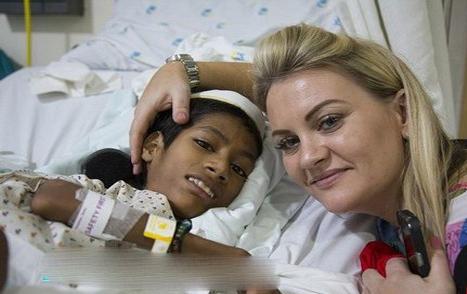 جراحی گردن ۱۸۰ درجهای یک پسر هندی (+عکس)