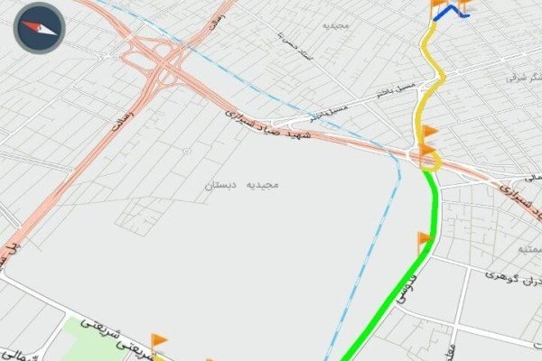 آگاهی از وضعیت ترافیک تهران با اپلیکیشن نقشه