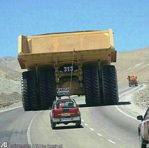 بزرگترین کامیون دنیا در جاده (+عکس)