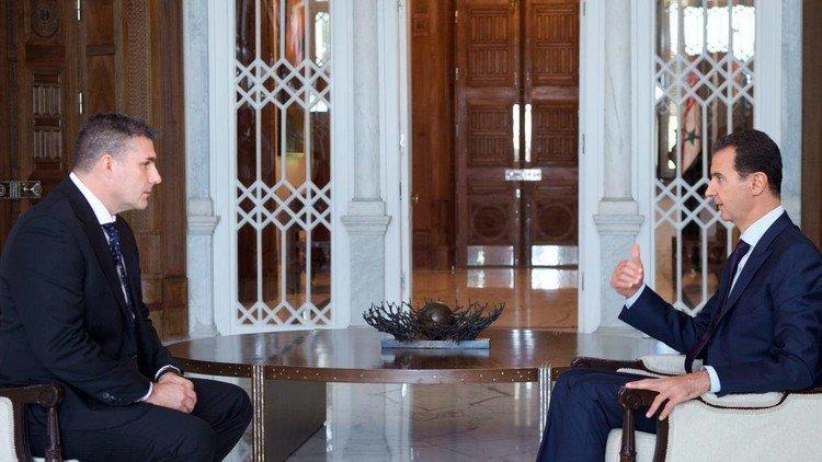 بشار اسد: مخالف همکاری با آمریکا نیستیم