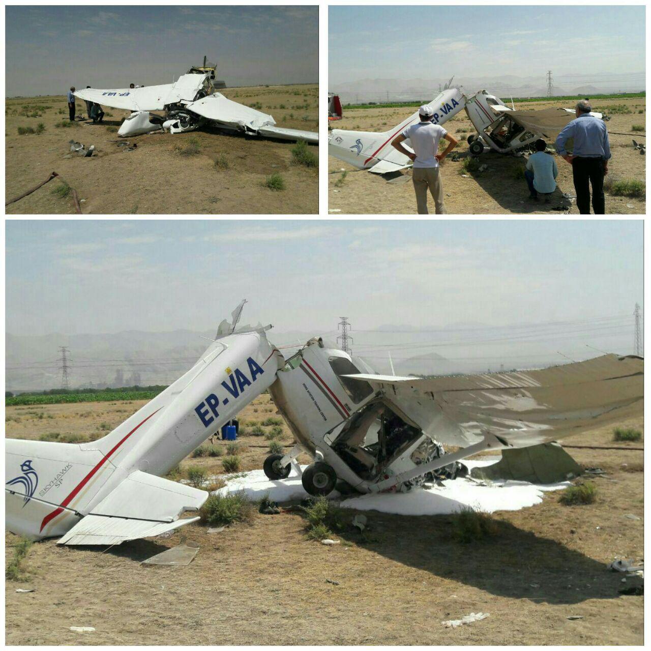سقوط بالگرد در نزدیکی کرج / خلبان کشته شد (+عکس)
