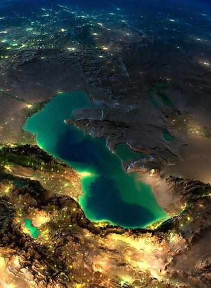 دریای خزر از دوربین ماهواره (عکس)