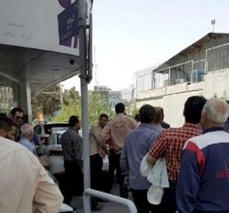 درگیری عوامل شهرداری تهران با دستفروشان