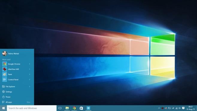 پنجرههای رنگارنگ در ویندوز 10