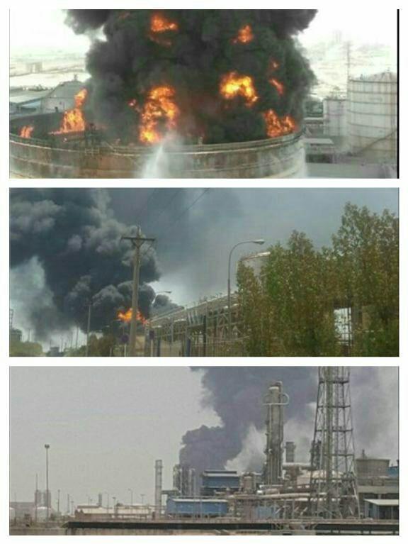 آتش سوزی دوباره در پتروشیمی ماهشهر / تخلیه همه واحدهای پتروشمی / بسته شدن جاده ماهشهر - بندر امام