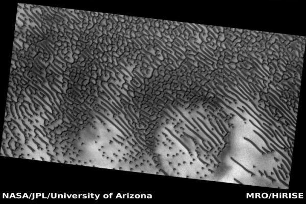 کشف خطوط مرموز روی مریخ