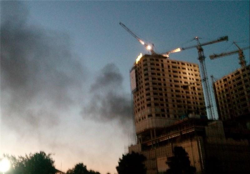 برج سلمان مشهد دچار آتشسوزی شد (+عکس)