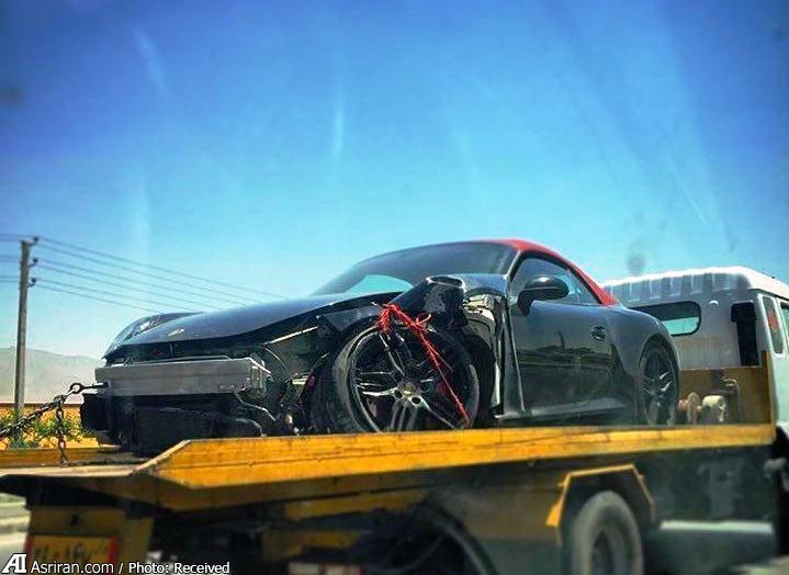 تصادف خودوی لوکس آلمانی در ایران (+عکس)