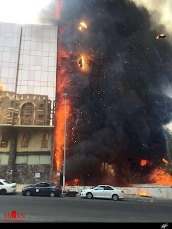 هتل زائران خارجی مکه در آتش سوخت (+عکس)