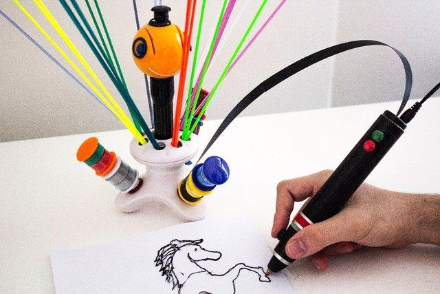 قلم چاپ سهبعدی که با پلاستیک بازیافتی کار میکند