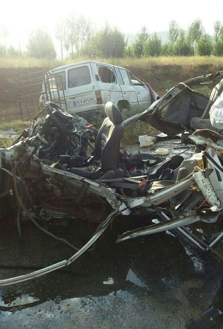 4  کشته در تصادف پراید در آذربایجان غربی (+عکس)