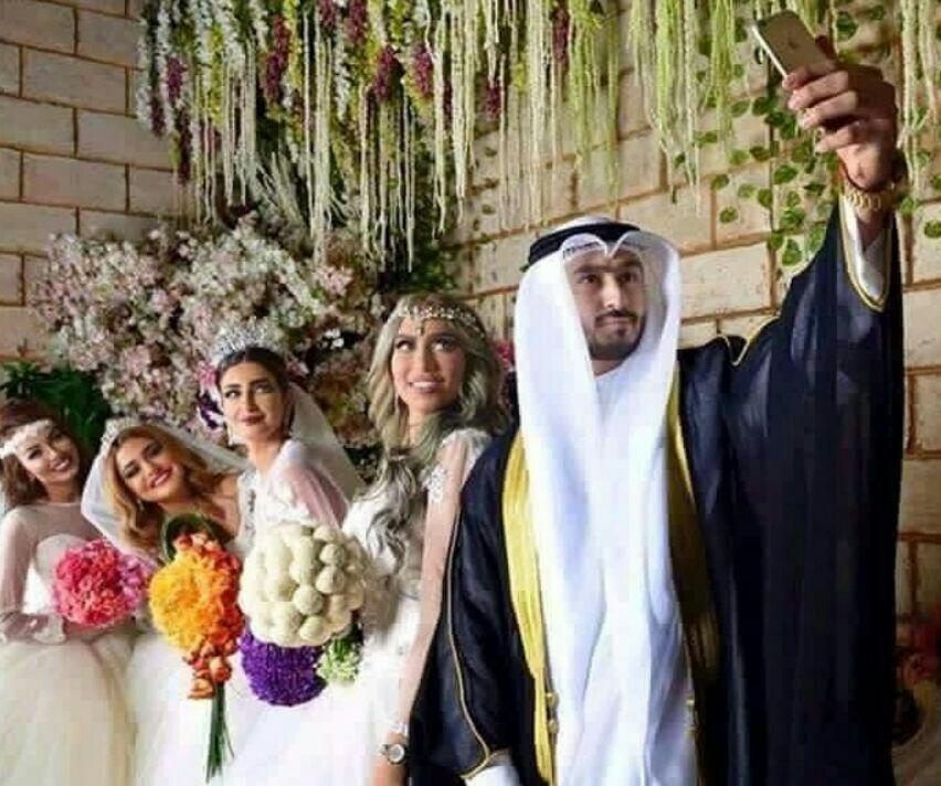 تکذیب خبر ازدواج همزمان یک کویتی با 4 دختر در یک شب (+عکس)
