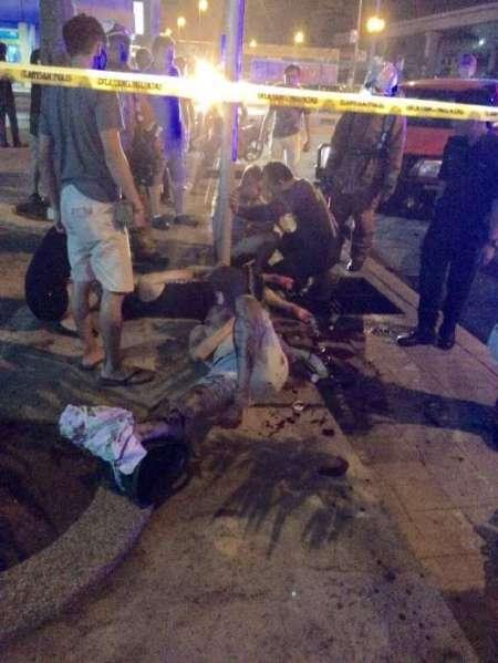 انفجار در یک باشگاه شبانه مالزی (+عکس)