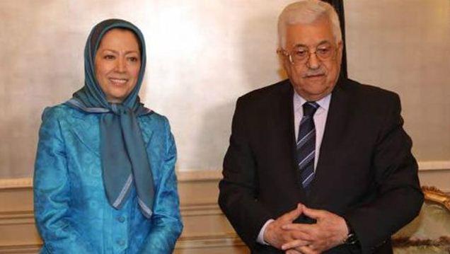 دیدار رئیس تشکیلات خودگردان فلسطین با مریم رجوی