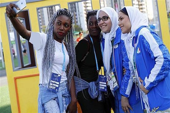 اشتیاق دختران برزیلی برای گرفتن سلفی با المپیکی های ایران (+عکس)