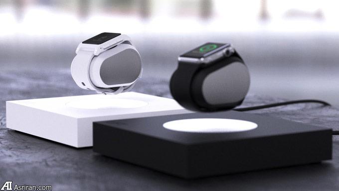 شارژ ساعت هوشمند اپل به صورت شناور با شارژر «لیفت»
